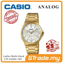 CASIO LADIES LTP-V300G-7AV Analog Watch | Multi-Hand Water Resistant [PRE]