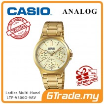 CASIO LADIES LTP-V300G-9AV Analog Watch | Multi-Hand Water Resistant [PRE]