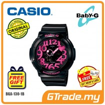 CASIO Ladies BABY-G BGA-130-1B Watch | Neon Illuminator Effect