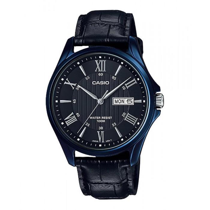 Casio Men Mtp 1384bul 1av Analog Watch Genuine Leather