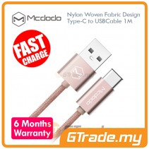 MCDODO Woven USB Type C Cable ROSE GOLD 1M