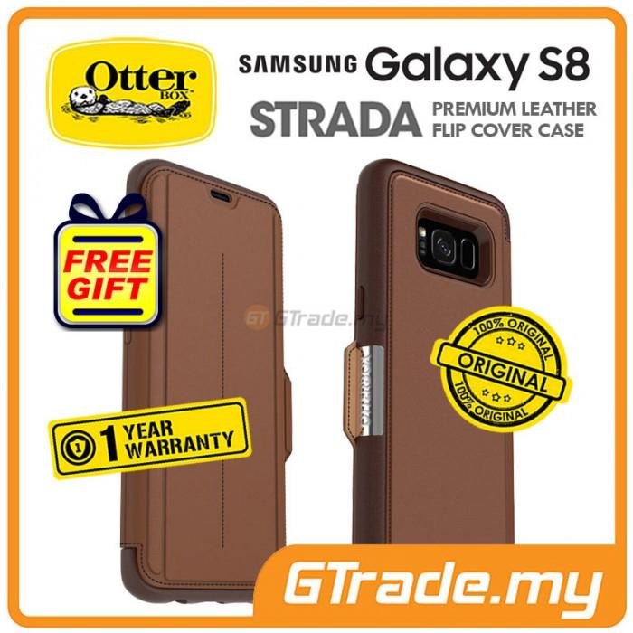 uk availability 86a8d 9f9e5 OTTERBOX Strada Premium Leather Case | Samsung Galaxy S8 Burnt *Free ...