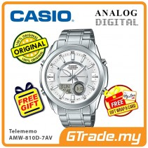 CASIO Men AMW-810D-7AV Analog Digital Watch | Telememo 10 Yrs Battery [PRE]