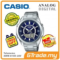 CASIO Men AMW-810D-2AV Analog Digital Watch | Telememo 10 Yrs Battery [PRE]