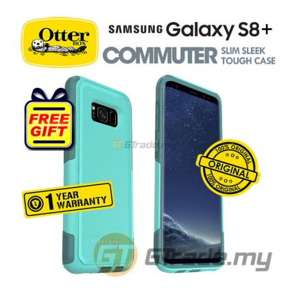 OTTERBOX Commuter Dual Layer Case Samsung Galaxy S8 Plus Aqua *Free Gift