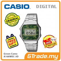 CASIO Men A168WEC-3D Digital Watch | Vintage Classic New Army Color [PRE]