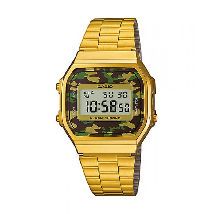 Casio Men A168wegc 3d Digital Watch Vintage Classic Gold