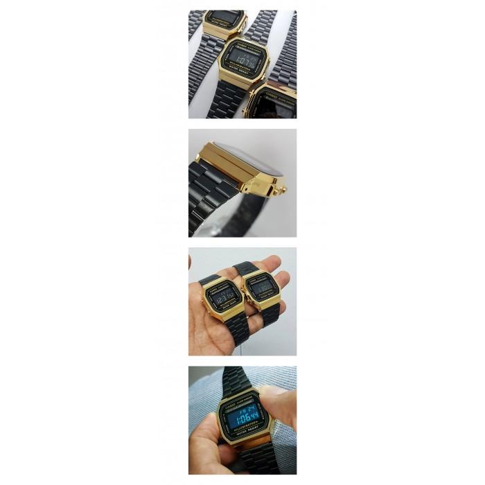 Ready Stock Casio Men A168wegb 1b Digital Watch