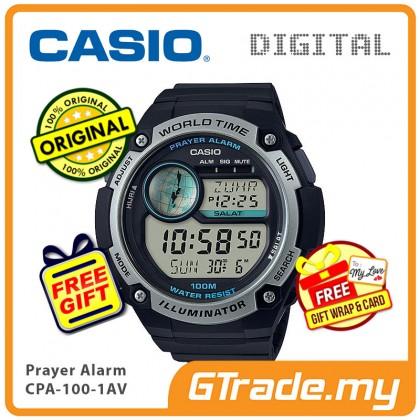 [READY STOCK] CASIO Men Prayer CPA-100-1AV Digital Watch | Hijri Prayer Alarm