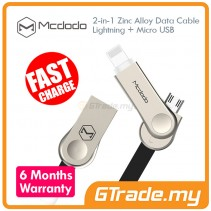 MCDODO MCA180 Lightning+Micro USB Cable BLACK
