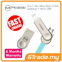 MCDODO MCA180 Lightning+Micro USB Cable BLUE