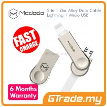MCDODO MCA180 Lightning+Micro USB Cable WHITE