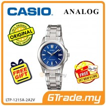 CASIO CLASSIC ANALOG LTP-1215A-2A2V Ladies Watch | Steel Date Display