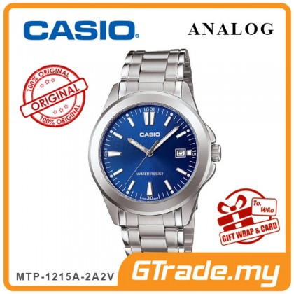 [READY STOCK] CASIO CLASSIC ANALOG MTP-1215A-2A2V Men Watch | Steel Date Display