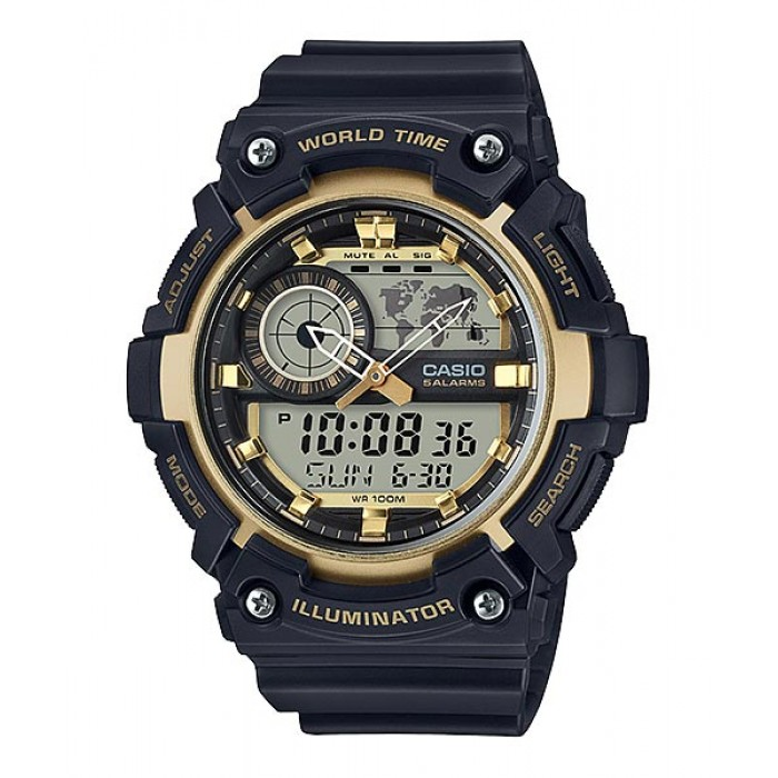 Casio World Map Watch.Ready Stock Casio Standard Aeq 200w 9av Analog Digital Watch