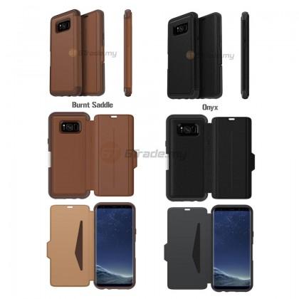 OTTERBOX Strada Premium Leather Case | Samsung Galaxy S8 Plus Burnt *Free Gift