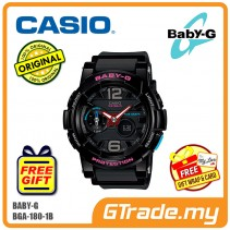 CASIO Ladies BABY-G BGA-180-1B Watch | G-Lide Surfing Series