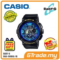 [READY STOCK] CASIO Ladies BABY-G BGA-190GL-1B Watch | Beach Traveler Series