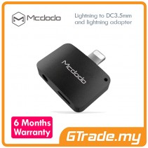 MCDODO Lightning to Audio 3.5mm Jack Adapter Apple iPhone 7 7 Plus BK