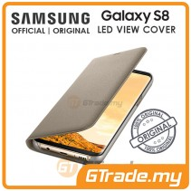 SAMSUNG Official Original LED View Flip Cover Case Galaxy S8 Gold