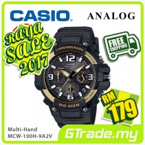 ✰RAYA✰CASIO MEN MCW-100H-9A2V Analog Watch | Tough looking case