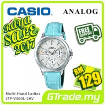 ✰RAYA✰CASIO LADIES LTP-V300L-2AV Analog Watch | Multi-Hand Water Resistant