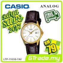 ✰RAYA✰CASIO CLASSIC ANALOG LTP-1183Q-7AV Ladies Watch | Date Display Leather