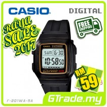 ✰RAYA✰CASIO STANDARD F-201WA-9A Digital Watch | Classic Simple Young Design
