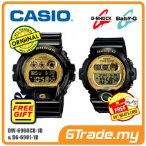 [READY STOCK] CASIO G-SHOCK BABY-G DW-6900CB-1 & BG-6901-1 Couple Watch