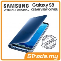 SAMSUNG Official Original Clear View Flip Cover Case Galaxy S8 Blue