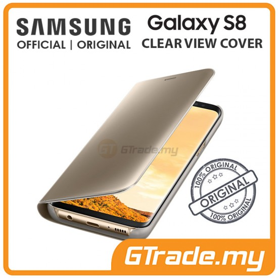 SAMSUNG Official Original Clear View Flip Cover Case Galaxy S8 Gold