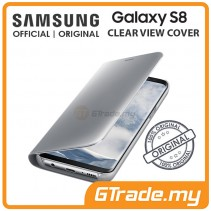 SAMSUNG Official Original Clear View Flip Cover Case Galaxy S8 Silver
