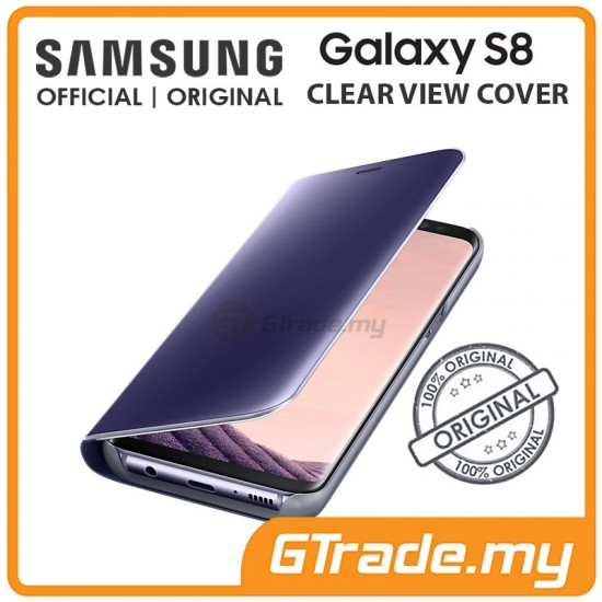 SAMSUNG Official Original Clear View Flip Cover Case Galaxy S8 Violet