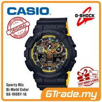 CASIO G-SHOCK GA-100BY-1A Analog Digital Watch | Sporty Mix Yellow BK