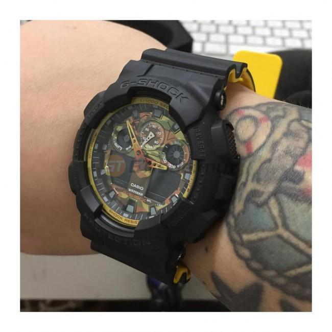 CASIO G-SHOCK GA-100BY-1A Analog Digital Watch | Sporty Mix Yellow BK