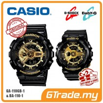 CASIO G-SHOCK BABY-G GA-110GB-1A & BA-110-1A Couple Watch