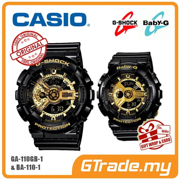 20a2214d8a9d [G-ZONE] CASIO G-SHOCK BABY-G GA-110GB-1A & BA-110-1A Couple Watch