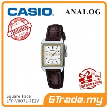 CASIO ANALOG LTP-V007L-7E2V Ladies Watch | Square Face Leather Band [PRE]
