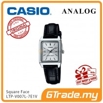 CASIO ANALOG LTP-V007L-7E1V Ladies Watch | Square Face Leather Band [PRE]