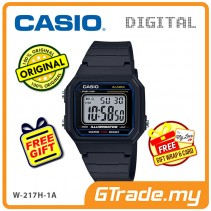 CASIO STANDARD W-217H-1A Digital Watch | Classic 1991 Design Calendar