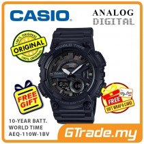 CASIO STANDARD AEQ-110W-1BV Analog Digital Watch | 10 Years Battery