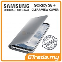 SAMSUNG Official Original Clear View Flip Case Galaxy S8 Plus Silver