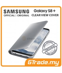 SAMSUNG Official Original Clear View Flip Case Galaxy S8 Plus Silver