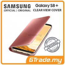 SAMSUNG Official Original Clear View Flip Case Galaxy S8 Plus Pink