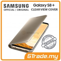 SAMSUNG Official Original Clear View Flip Case Galaxy S8 Plus Gold