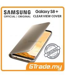 SAMSUNG Official Original Clear View Flip Case Galaxy S8 Plus Gold