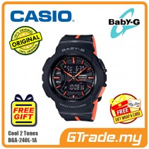 [READY STOCK] CASIO Ladies BABY-G BGA-240L-1A Digital Watch Sport Runner Lap Memory
