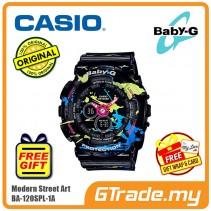 CASIO Ladies BABY-G BA-120SPL-1A Digital Watch Street Splatter Design