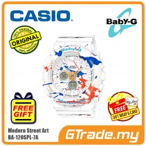 [READY STOCK] CASIO Ladies BABY-G BA-120SPL-7A Digital Watch Street Splatter Design