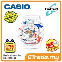 CASIO Ladies BABY-G BA-120SPL-7A Digital Watch Street Splatter Design